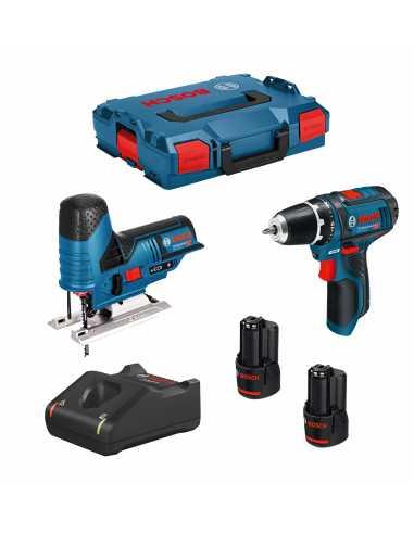 BOSCH Kit 12V B12GSTGSR2bat3a-40 (GSR 12V-15 + GST 12V-70 + 2 x