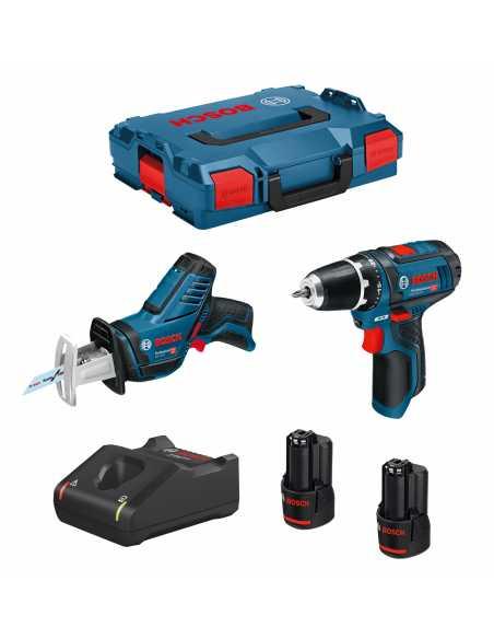 BOSCH Kit 12V B12GSRGSA2bat3a-40 (GSR 12V-15 + GSA 12V-14 + 2 x