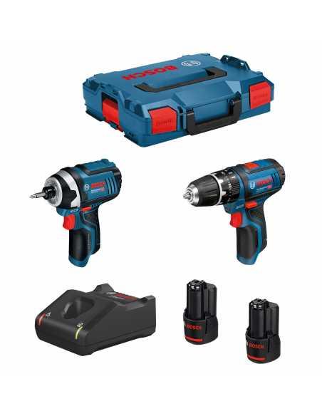 BOSCH Kit 12V B12GSBGDR2bat3a-40 (GSB 12V-15 + GDR 12V-10 + 2 x
