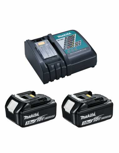MAKITA Power Set (2 x 18V 3,0 Ah + DC18RC)