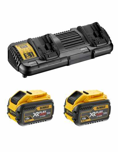 DeWALT Power Set FlexVolt (2 x 54V/18V 9,0 Ah + DCB132)