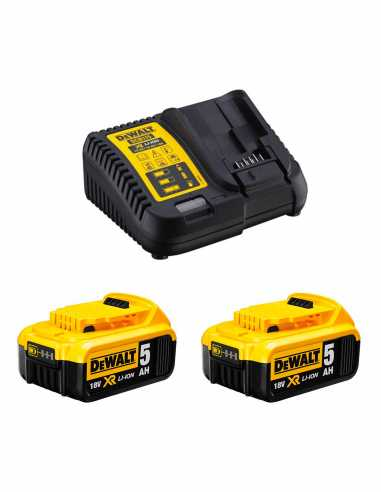 Power Set DeWALT (2 x 18V 5,0 Ah + DCB115)