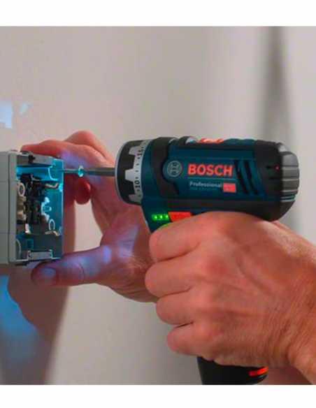 BOSCH GSR 12V-15 FC (Corpo Solo + L-Boxx 102) + 1 Testa di