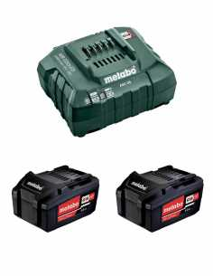 Power Set METABO (2 x 18V 4,0 Ah + ASC55)