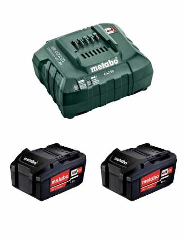 Power Set METABO (2 x 18V 4,0 Ah + ASC 55)