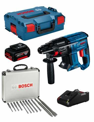 Perforateur BOSCH GBH 18V-21 (1 x 5,0 Ah + GAL18V-40 + L-Boxx
