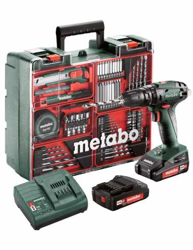 Hammer Drill METABO SB 18 Set (2 x 2,0 Ah + SC30 + Carrying