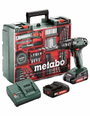 Hammer Drill METABO SB 18 Set (2 x 2,0 Ah + SC30 + Carrying