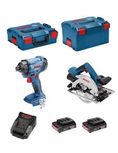 BOSCH Kit 18V BSK182D2A (GDR 18V-160 + GKS 18-57 G + 2 x 2,0 Ah