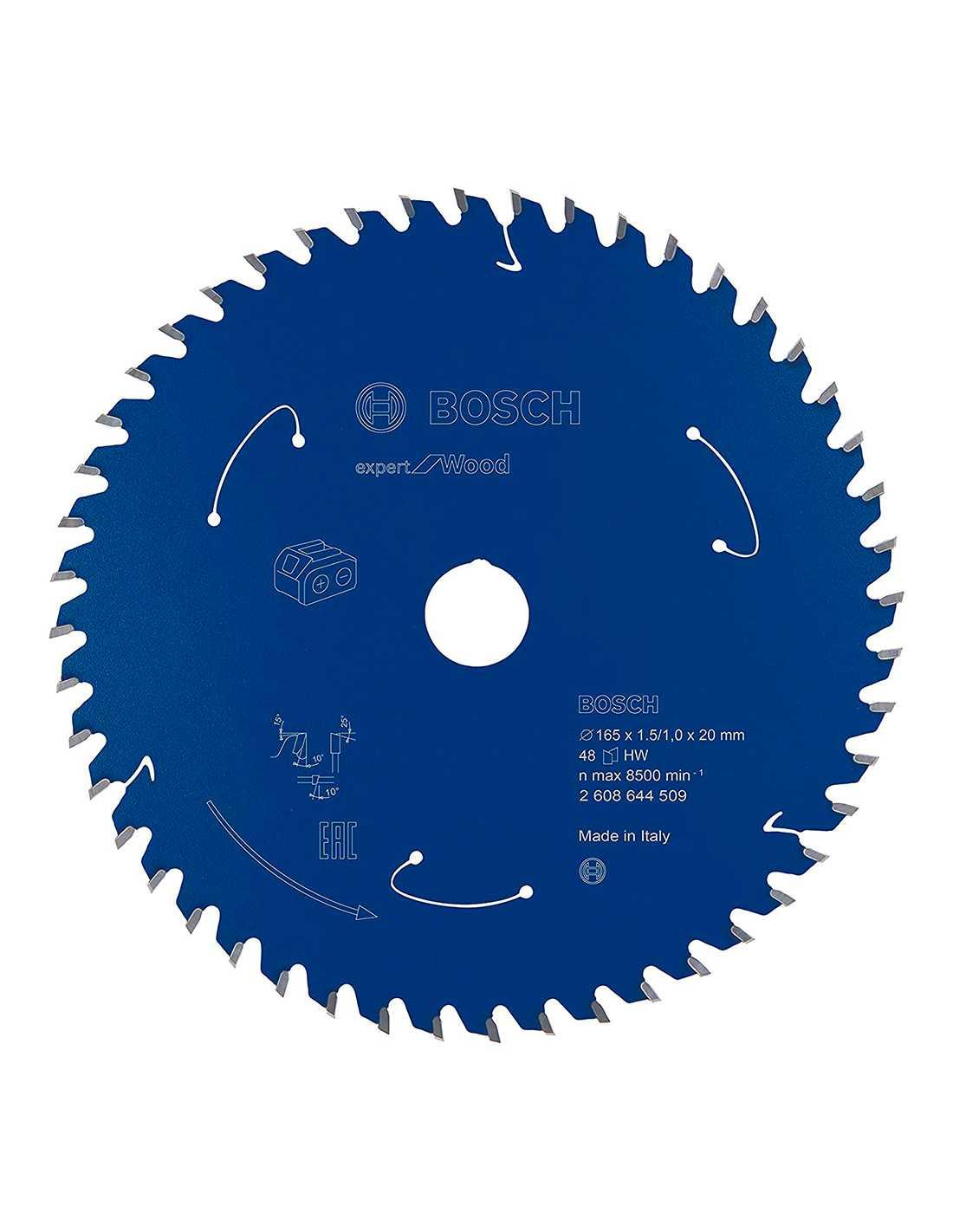 Bosch Circular Plunge Saw Blade Fine Cut TCT 165mm x 16//20mm x 80T by KROP