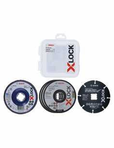 Set de 5 Discos de corte y de lija para amoladora BOSCH X-LOCK - Ø 125 mm (2 608 619 374)