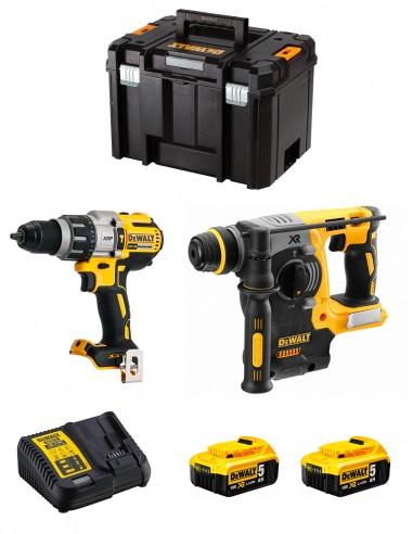 DeWALT Kit DWK223 (DCD996 + DCH273 + 2 x 5,0 Ah + DCB115 +