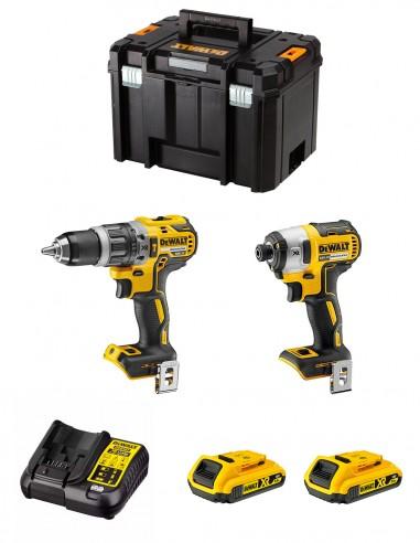 DeWALT Kit DWK211 (DCD796 + DCF887 + 2 x 2,0 Ah + DCB107 +
