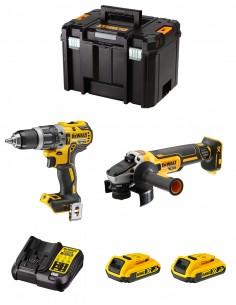 DeWALT Kit DWK208 (DCD796 + DCG405 + 2 x 2,0 Ah + DCB107 + TSTAK VI)