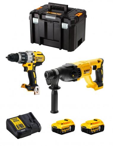 DeWALT Kit DWK222 (DCD996 + DCH133 + 2 x 5,0 Ah + DCB115 +
