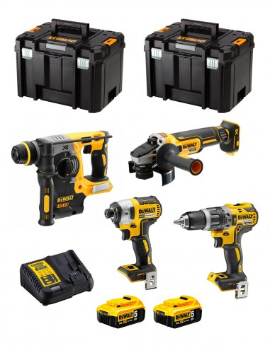 DeWALT Kit DWK400 (DCD796 + DCH273 + DCG405 + DCF887 + 2 x 5,0