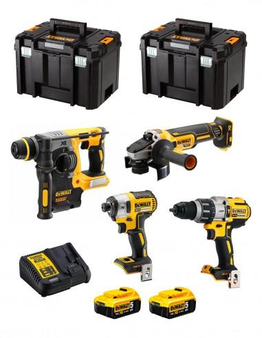 DeWALT Kit DWK401 (DCD996 + DCH273 + DCG405 + DCF887 + 2 x 5,0