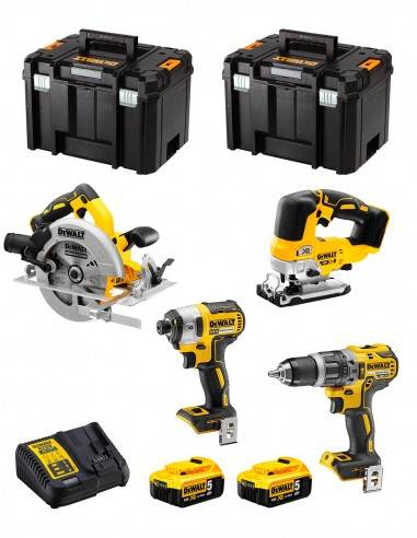 DeWALT Kit DWK403 (DCD796 + DCF887 + DCS334 + DCS570 + 2 x 5,0