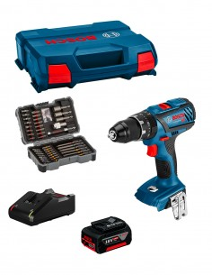 Drill Driver BOSCH GSR 18V-28 (1 x 5,0 Ah + GAL 18V-40 + L-Case) + Set of 43 screwdriver bits