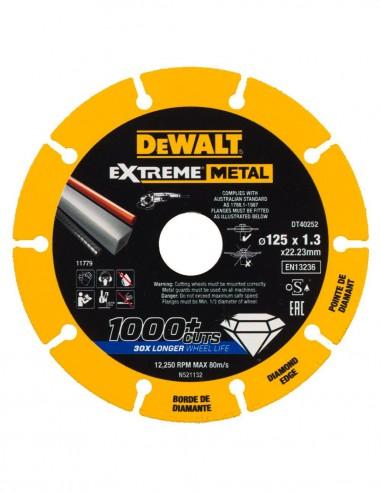 Disque de coupe diamant Extreme Metal DeWALT DT40252-QZ (Ø 125