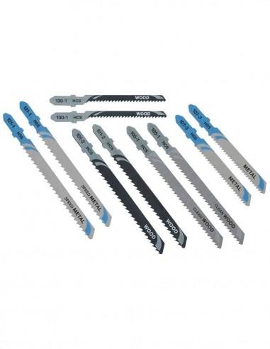Set di 10 Lame per seghetto alternativo taglio legno e metallo
