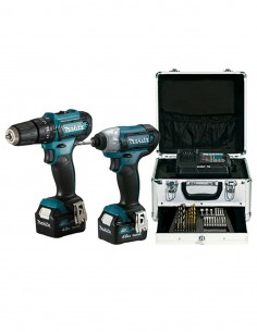 MAKITA Kit CLX228SMX1 (HP333D + TD110D + 2 x 4,0 Ah + DC10SB + Carrying Case + Accessories)