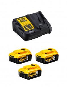 Power Set DeWALT DCB115P3 (3 x 5,0 Ah + DCB115)
