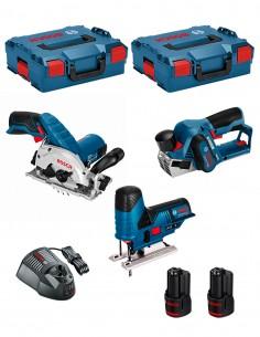 BOSCH Kit 12V BMK3-28AD2 (GKS 12V-26 + GST 12V-70 + GHO 12V-20 + 2 x 2,0 Ah + GAL1230CV + 2 x L-Boxx 136 )