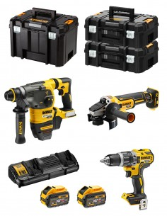 DeWALT Kit FVK375X2 54V/18V (DCH333 + DCG405 + DCD796 + 2 x 9,0 Ah + DCB132 + TSTAK VI + 2 x TSTAK II)