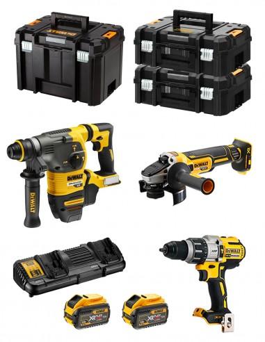 DeWALT Kit FVK395X2 54V/18V (DCH333 + DCG405 + DCD996 + 2 x 9,0