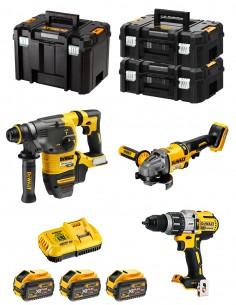 DeWALT Kit FVK381X3HD-QW 54V/18V (DCH333 + DCD996 + DCG414 + 3 x 9,0 Ah + DCB118 + 2 x TSTAK II + TSTAK VI)