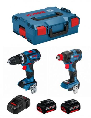 BOSCH Kit GSB 18V-60C + GDX 18V-200C (2 x 5,0Ah + GAL1880CV +