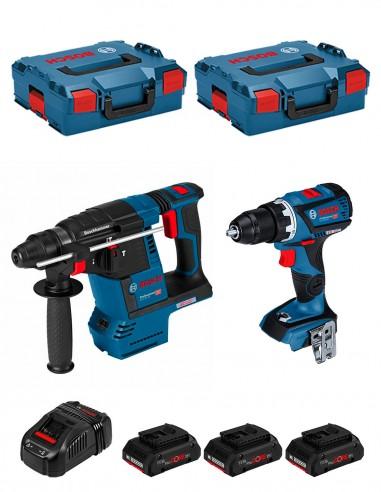 BOSCH Kit GSR 18V-60C + GBH 18V-26F (3 x 4,0 Ah ProCORE +
