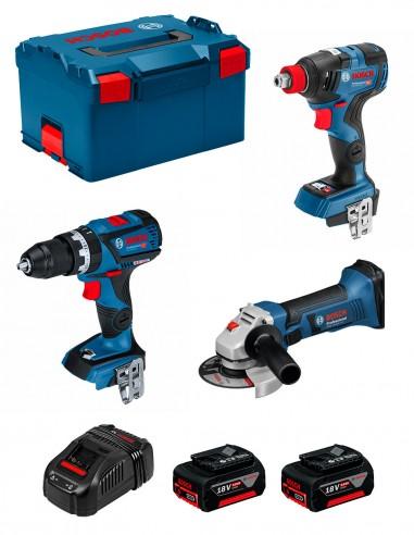 BOSCH Kit GSB 18V-60C + GDX 18V-200C + GWS 18-125V-LI (2 x