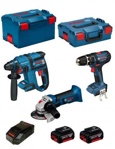 BOSCH Kit PSL3P3 (GBH 18 V-EC + GSB 18V-21 + GWS 18-125 V-LI +