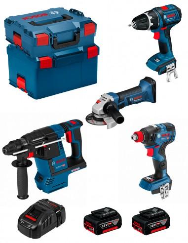 BOSCH Kit PSG4P2D (GBH 18V-26F + GSB 18 V-LI + GWS 18-125 V-LI