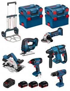 BOSCH Kit PSL6M3A (GBH 18 V-EC + GKS 18V-57 G + GWS 18-125 V-LI + GDX 18 V-LI + GSB 18V-21 + GST 18 V-LI + 3 x 4,0 Ah)