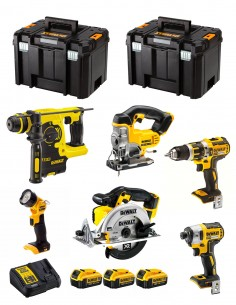 DeWALT Kit DCK699M3T (DCD795 + DCS391 + DCS331 + DCF887 + DCH253 + DCL040 + 3 x 4,0 Ah + DCB115 + 2 x TSTAK VI)