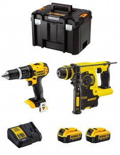 DeWALT Kit DCK206M2T (DCH253 + DCD785 + 2 x 4,0 Ah + DCB115 + TSTAK VI)