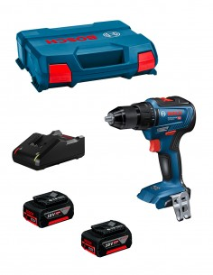 Drill Driver BOSCH GSR 18V-55 (2 x 4,0 Ah + GAL18V-40 + L-Case)