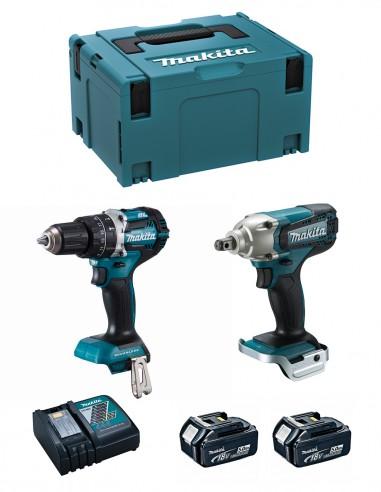 MAKITA Kit MK220RTJ (DHP484 + DTW190 + 2 x 5,0 Ah + DC18RC +