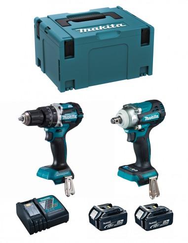 MAKITA Kit MK221RTJ (DHP484 + DTW300 + 2 x 5,0 Ah + DC18RC +