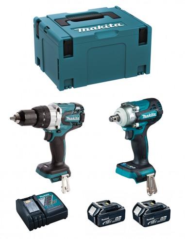 MAKITA Kit MK224RTJ (DHP481 + DTW300 + 2 x 5,0 Ah + DC18RC +