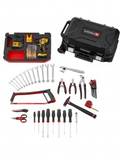Set of 68 pieces FACOM BV.R30CMD1IB (Drill Driver DCD701D2 + carrying case with wheels)