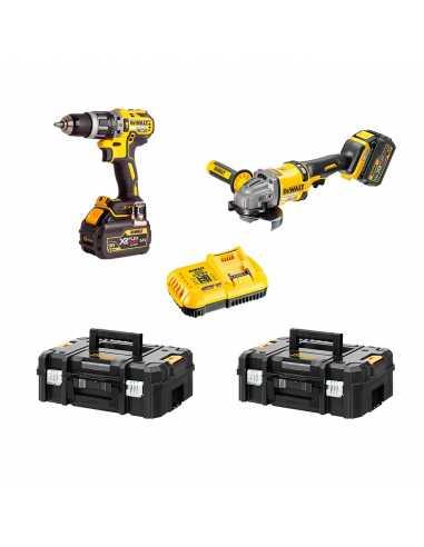 DEWALT Kit FVK256X2-QW 54V / 18V (DCD796 + DCG414 + 2 x 9,0 Ah + DCB132 + 2 x TSTAK II)