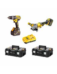DeWALT Kit FVK256T2-QW 54V/18V (DCD796 + DCG414 + 2 x 6,0 Ah + DCB118 + 2 x TSTAK II)