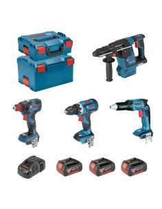 BOSCH Kit ECL4P3BEC (GDX 18V-200C + GSR 18V-EC TE + GSR 18V-60C + GBH 18V-26F + 3 x 5,0Ah + GAL1880CV + L-Boxx 136 + L-Boxx 238)
