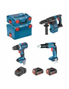 BOSCH Kit ECL3P2BEC (GSR 18V-EC TE + GBH 18V-26F + GSR 18V-60C + 2 x 5,0Ah + GAL1880CV + L-Boxx 136 + L-Boxx 238)