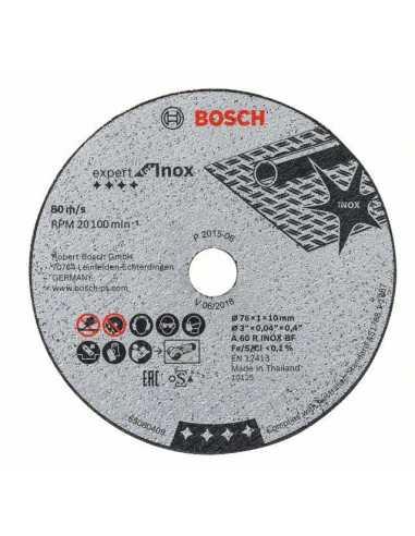 BOSCH Set di 5 unitè di dischi abrasivi per GWS 12V-76 di 76mm