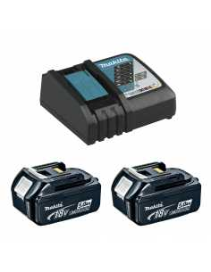 MAKITA Power Set (2 x 18V 5,0 Ah + DC18RC)